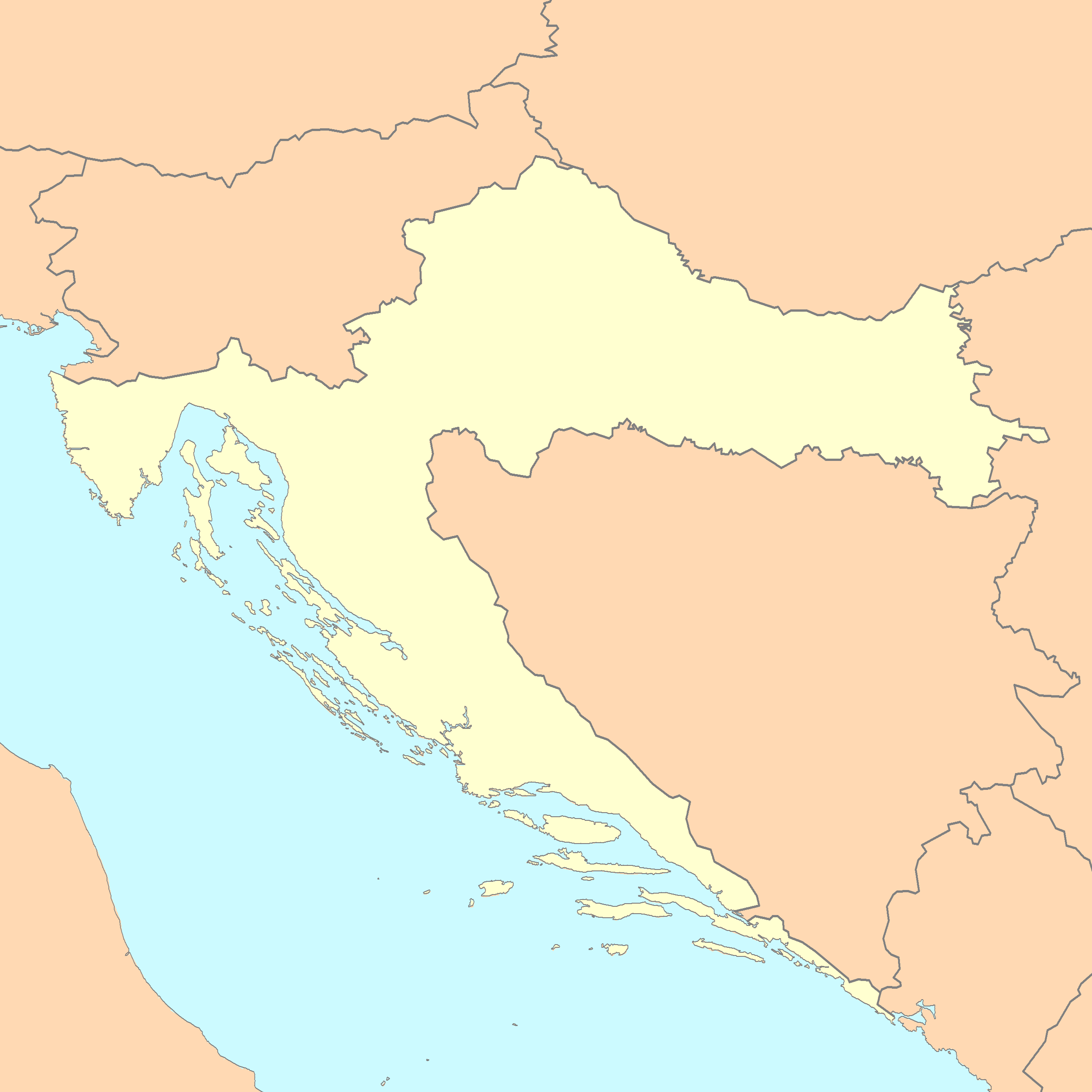 Croatia Map Blank
