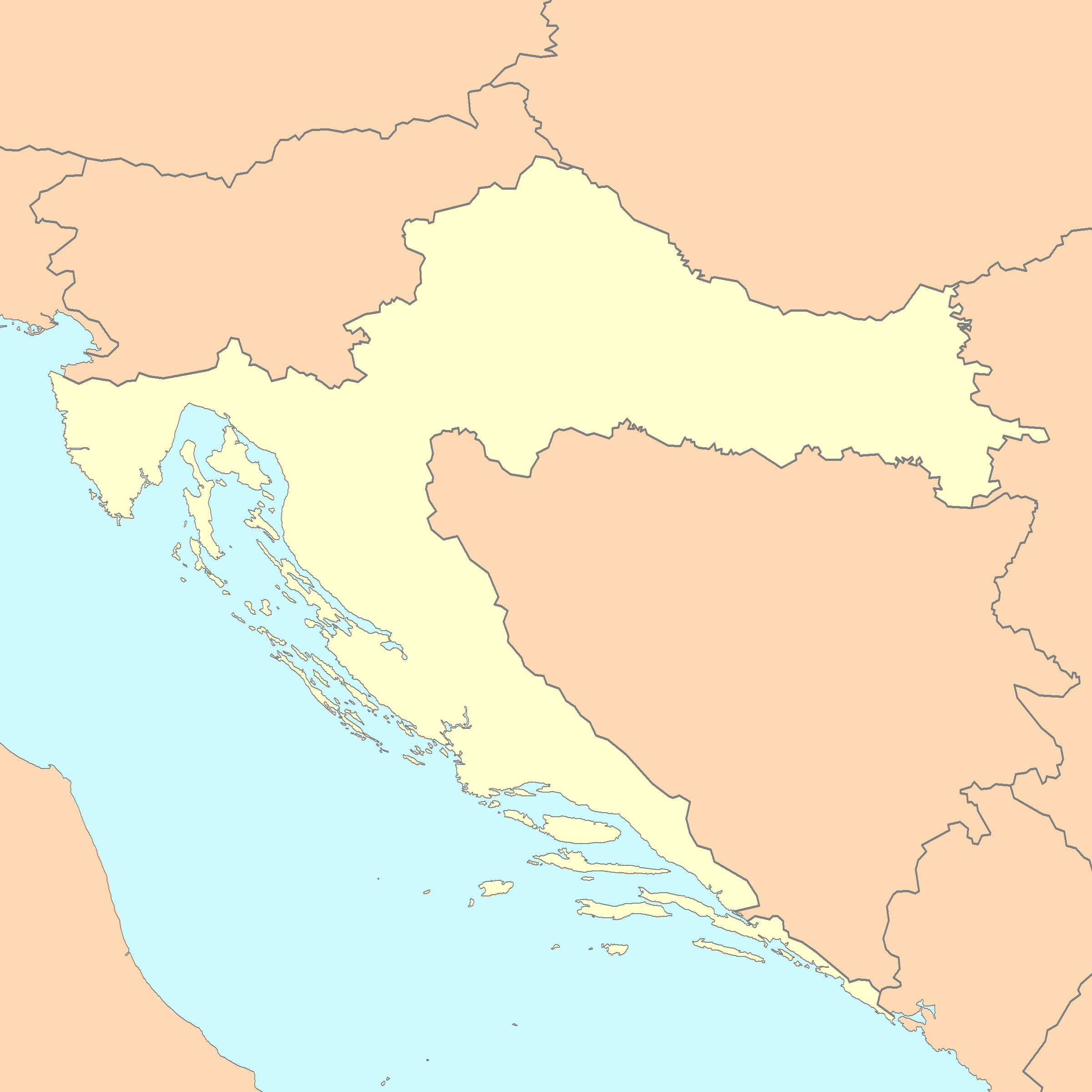 Croatia map blank.png