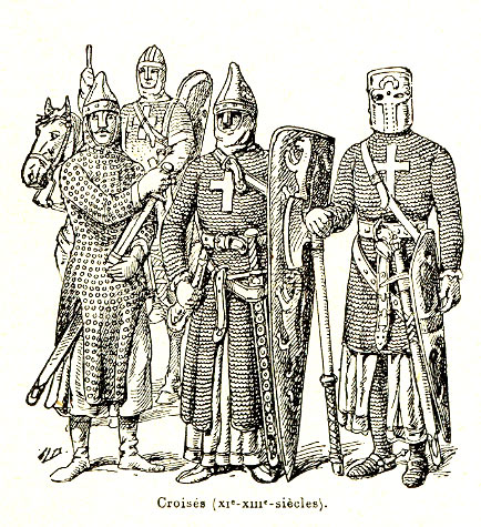 Burgundian knights on route to the Second Crusade