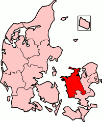 West Zealand County in Denmark
