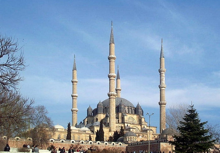 Selimiye Mosque, commissioned by Selim II and designed by Mimar Sinan in 1575.