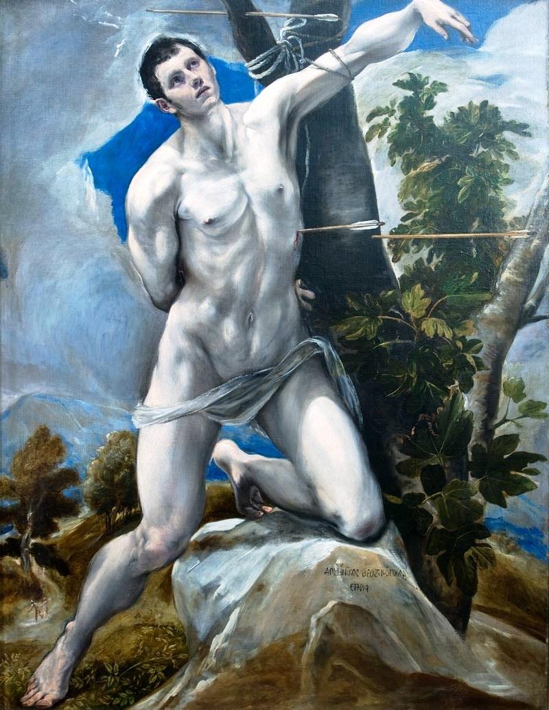 El martirio de San Sebastián, de El Greco (Catedral de Palencia).jpg