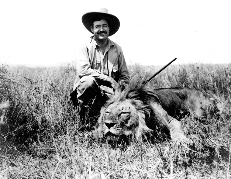 Ernest Hemingway on safari, 1934