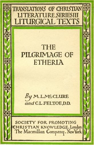 Translations Into Italian: Egeria (pilgrim)