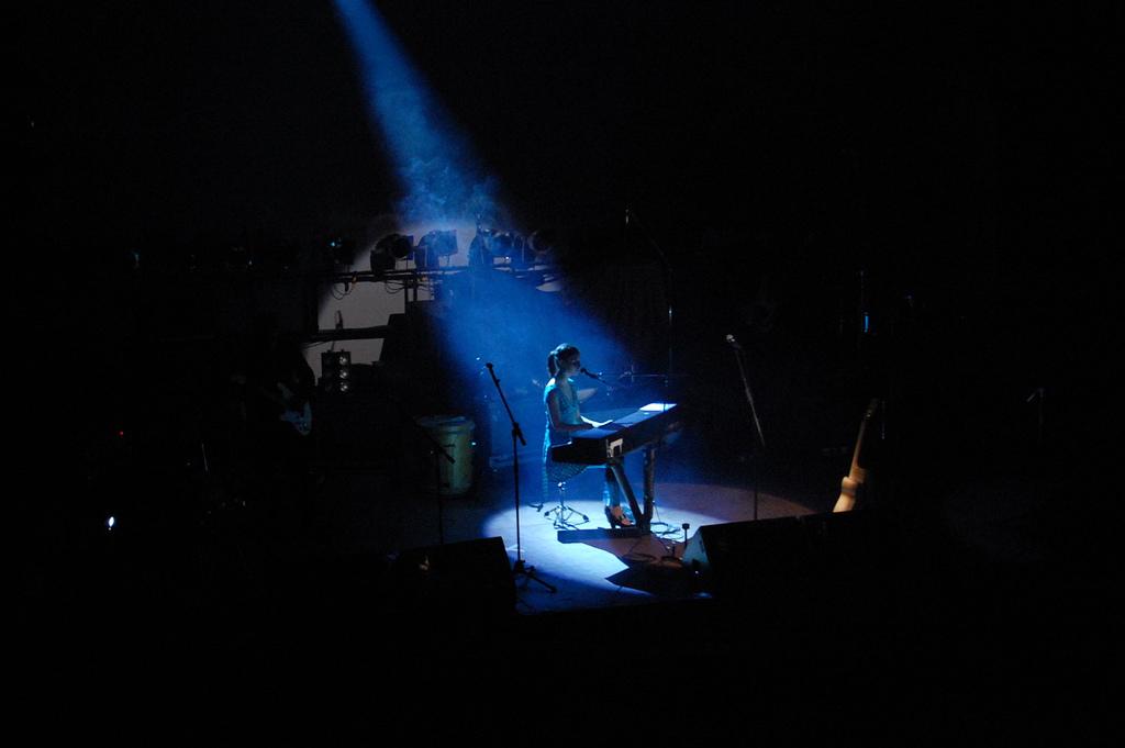 Francisca Valenzuela en un concierto en Concepción en 2007.