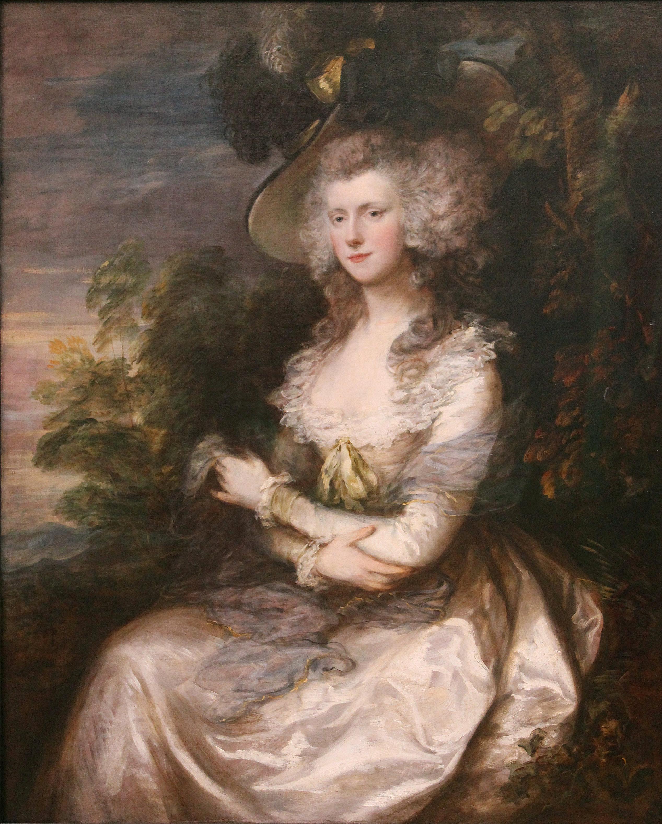 托马斯·庚斯博罗 Thomas Gainsborough (1727-1788年)英国肖像画家、风景画家 - 水木白艺术坊 - 贵阳画室 高考美术培训