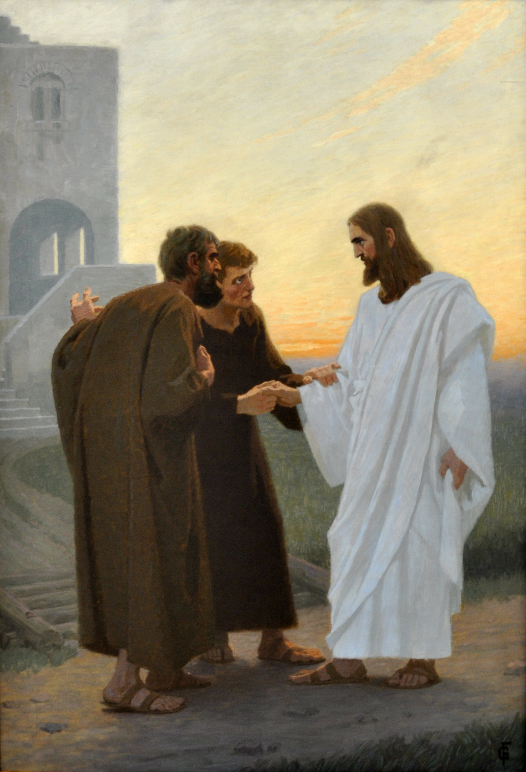 File:Gebhard Fugel Jesus und der Gang nach Emmaus.jpg - Wikimedia ...