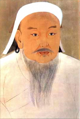 Depiction of Gengis Kan