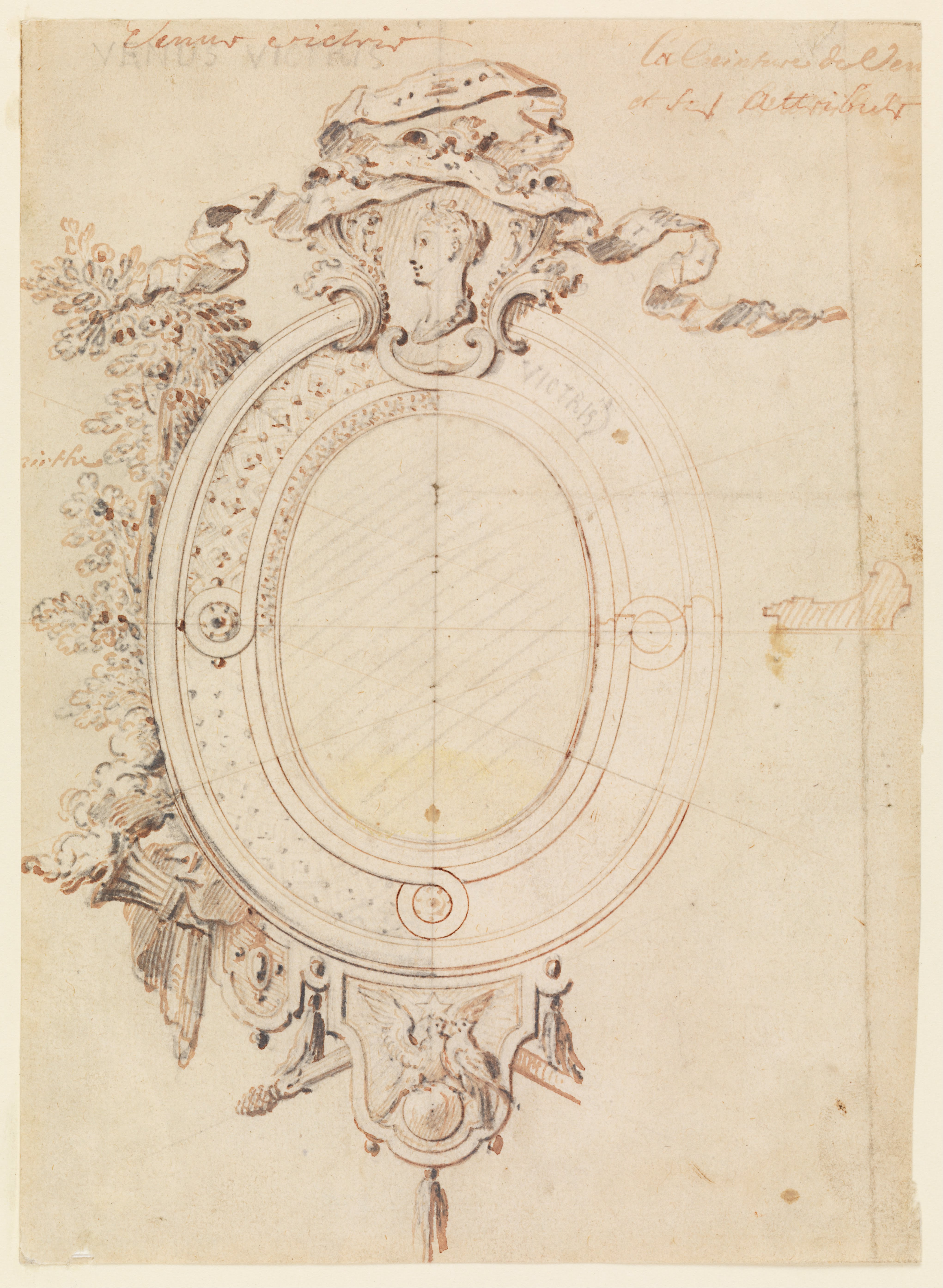 File:Gilles-Marie Oppenord - Design for an Oval Frame on ...