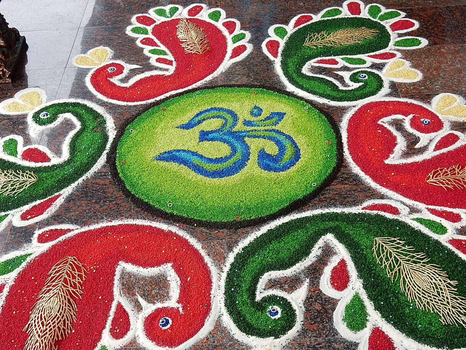Filegolden Mandala With Om Symbol At Hindu Temple In Malaysiag
