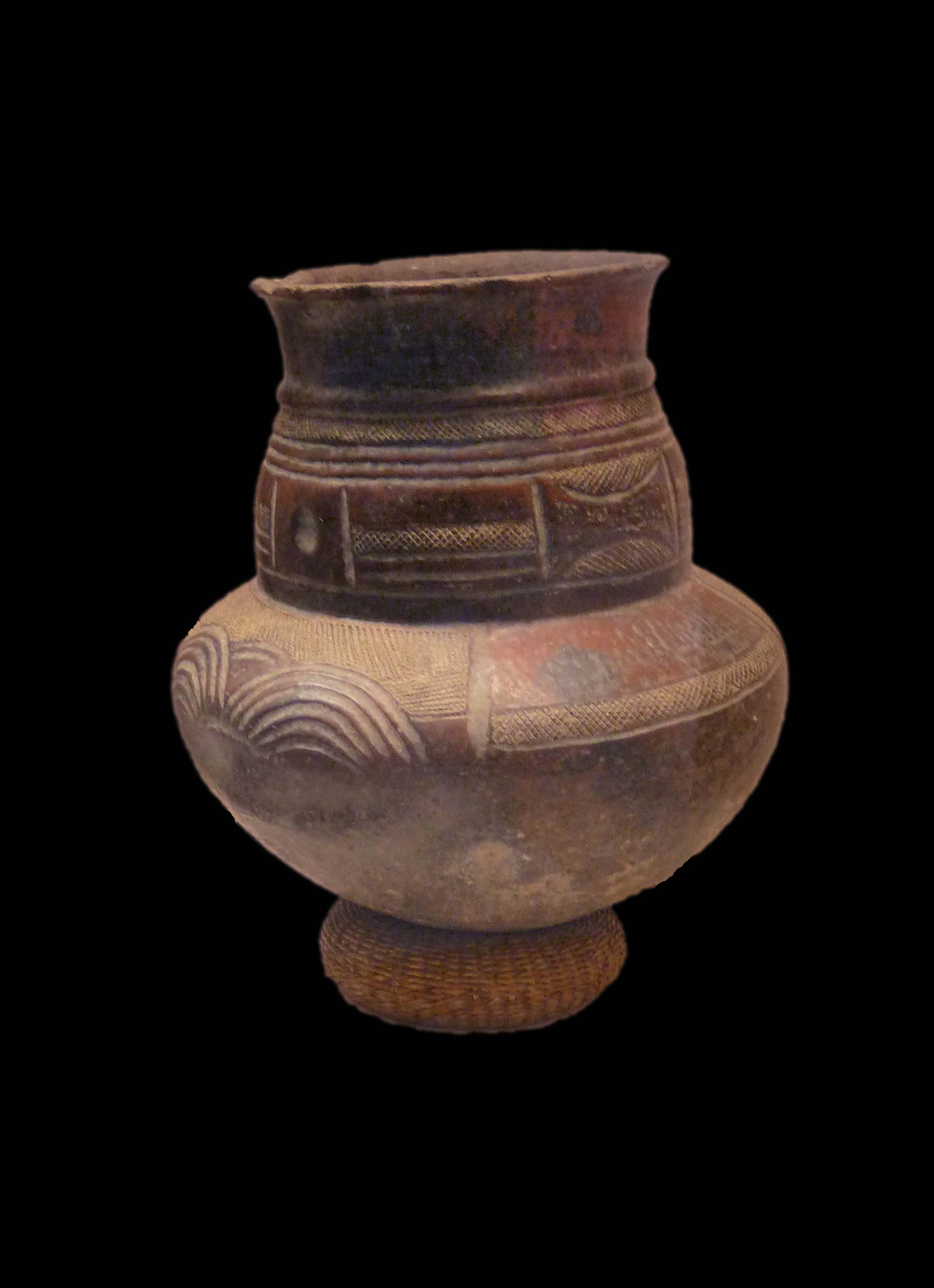 file grande poterie en terre cuite songye mus e royal de l. Black Bedroom Furniture Sets. Home Design Ideas
