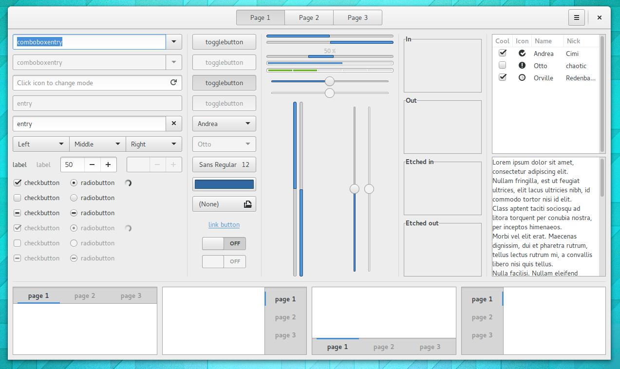 ejemplo componentes GTK para Gnome