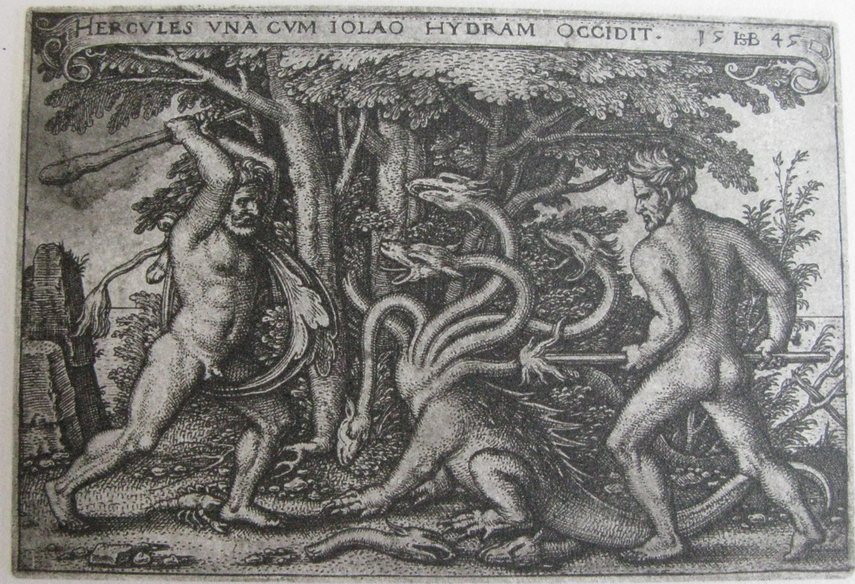 Hans Sebald Beham's Hercules killing the Hydra