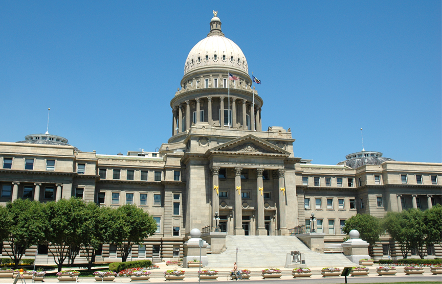 Idaho State Captiol Building To Vandal Store Boise