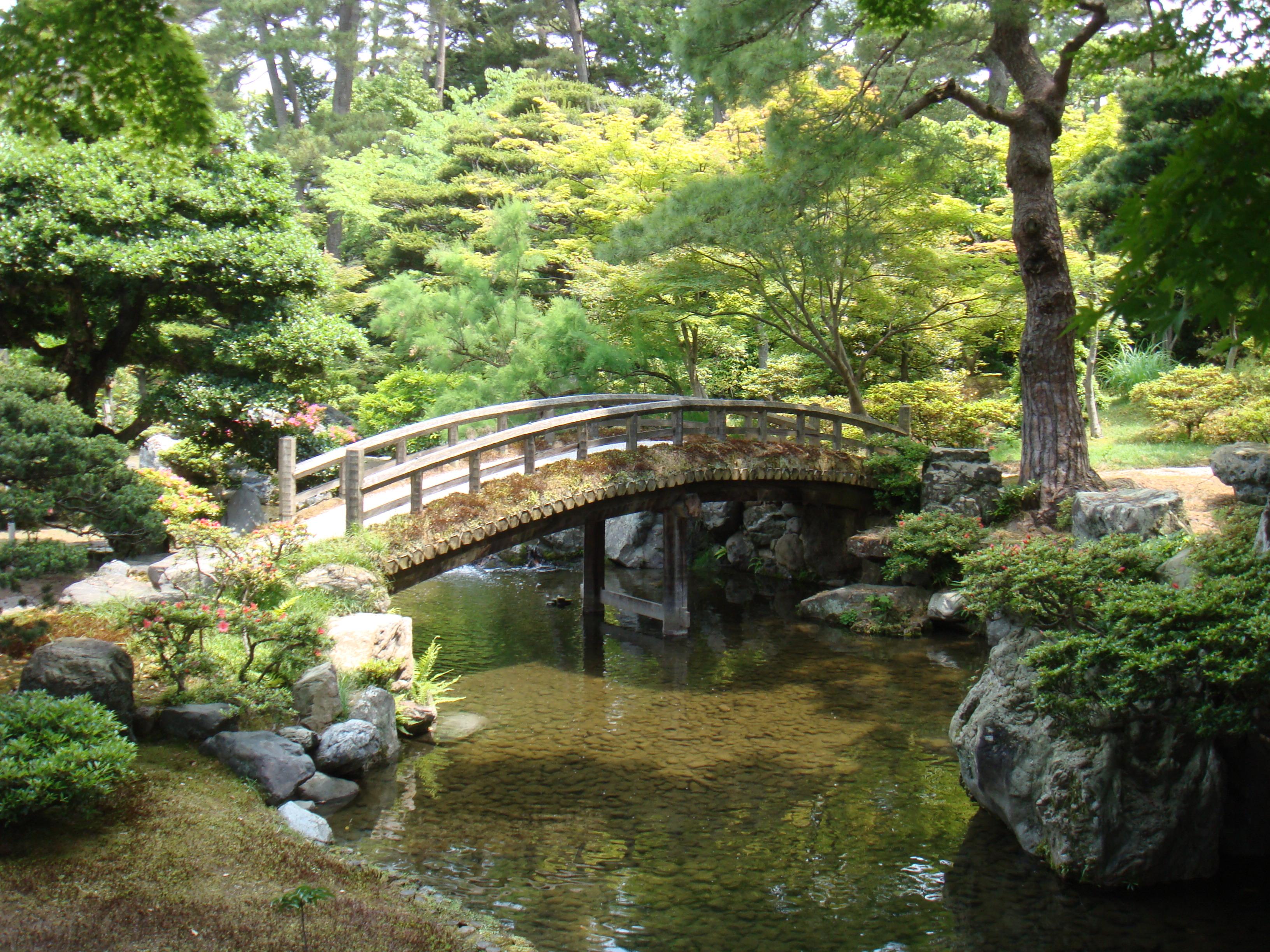File Imperial Palace In Kyoto Garden Of Emperor Library Bridge 2 Jpg