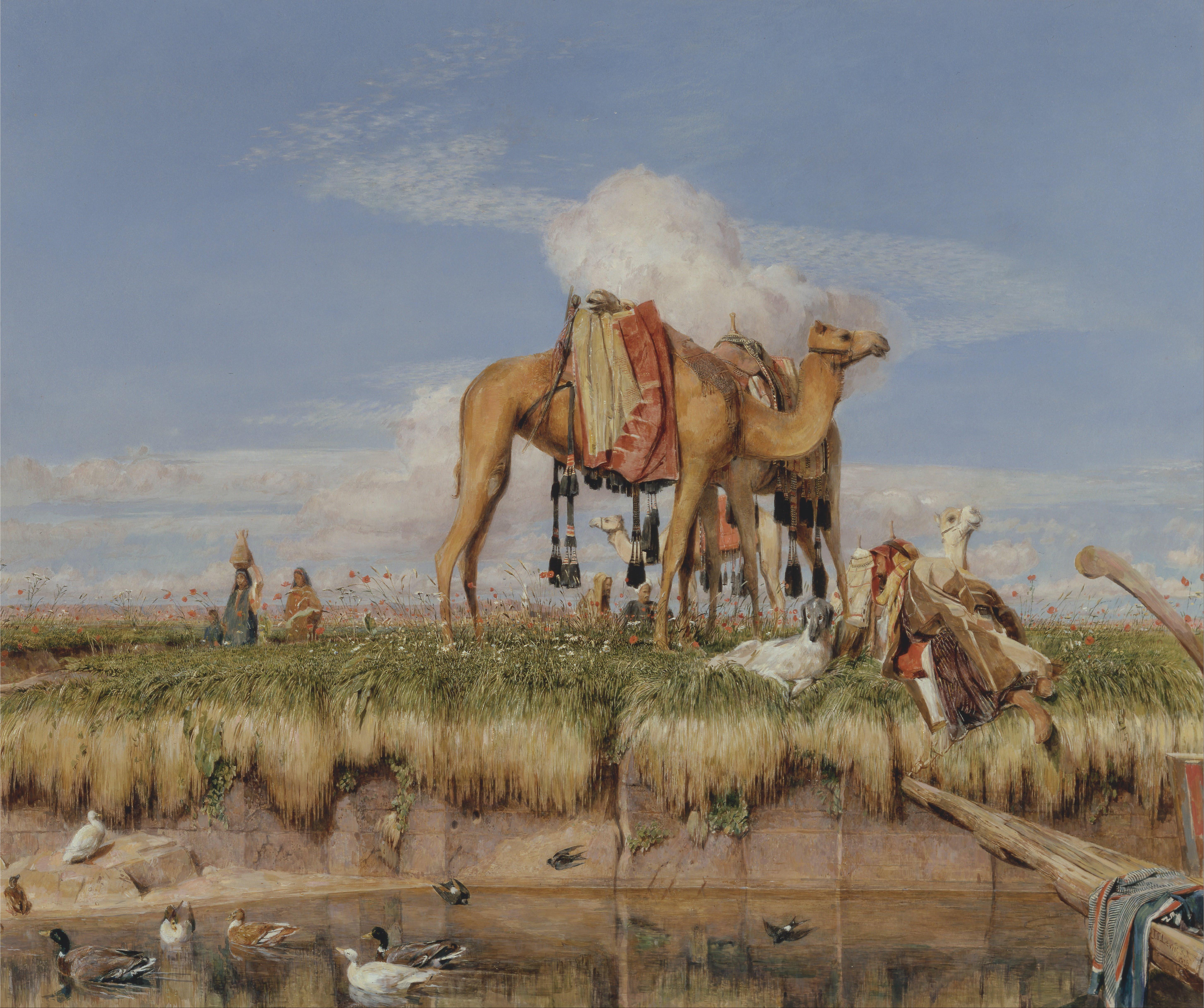 پرونده:John Frederick Lewis - On the Banks of the Nile ...