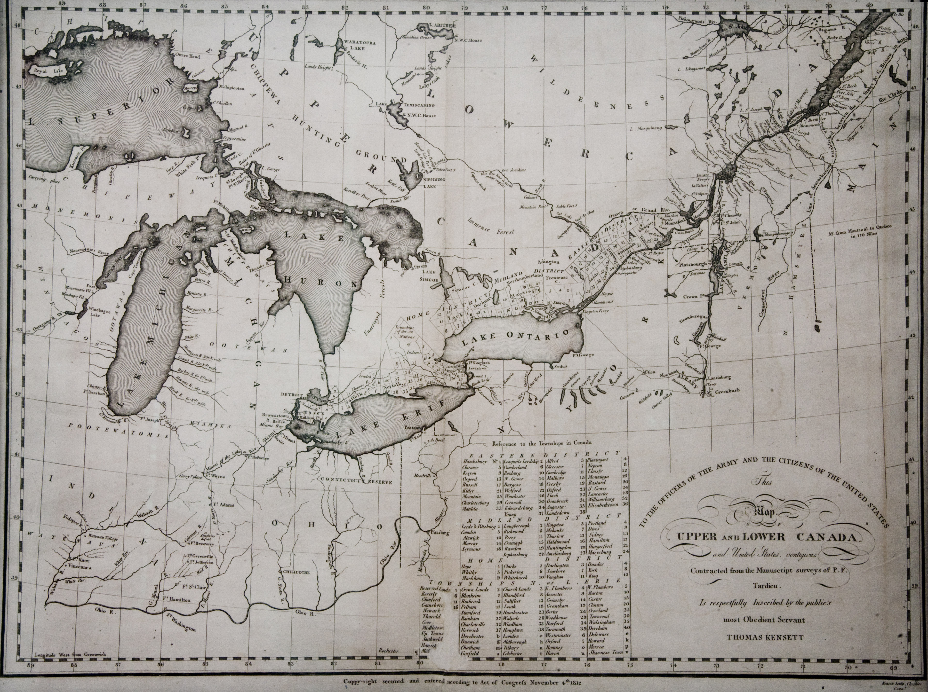 The great lakes including the Niagara Frontier just prior to the