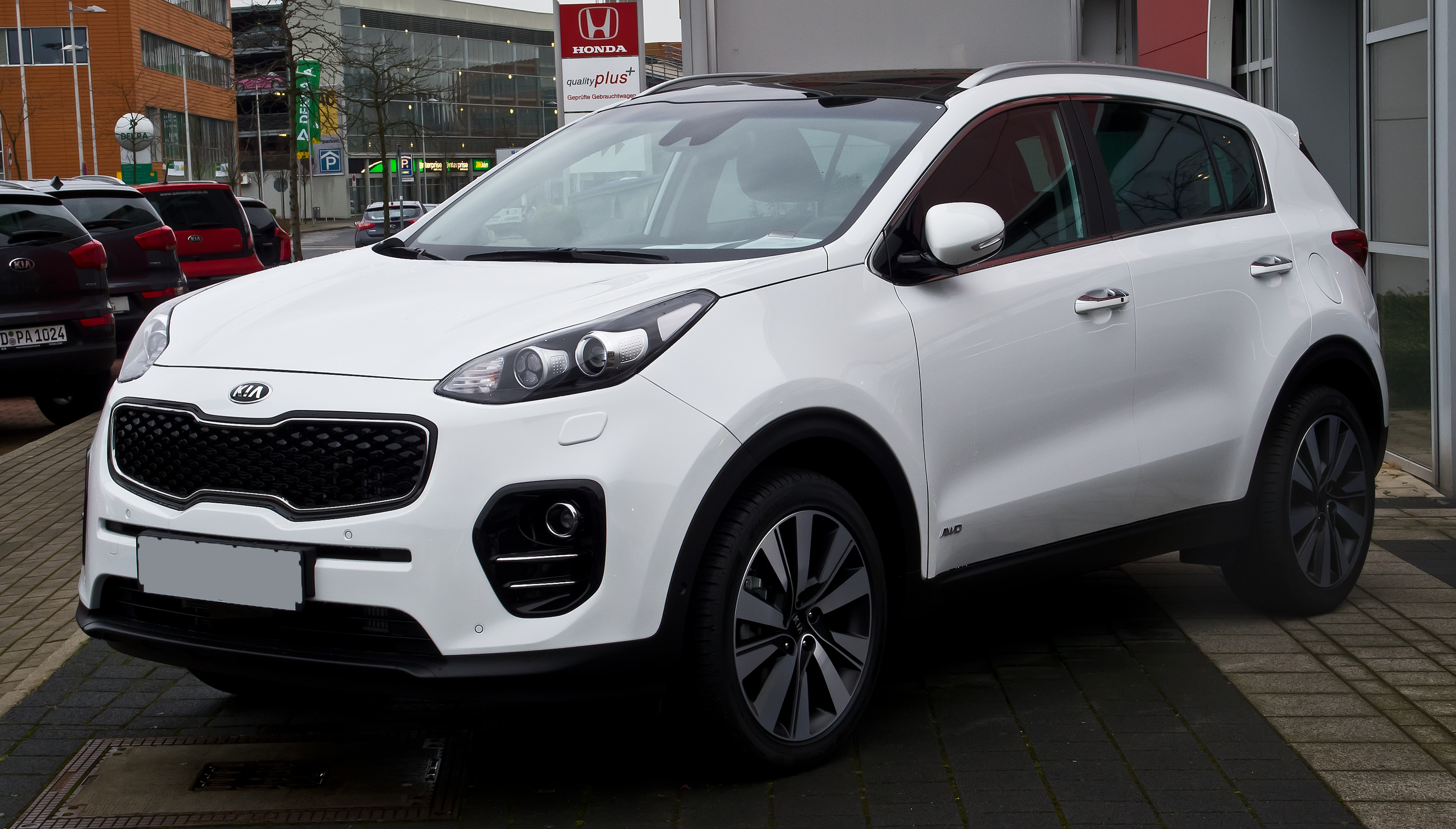 datei kia sportage 2 0 crdi awd platinum edition iv frontansicht 21 februar 2016. Black Bedroom Furniture Sets. Home Design Ideas