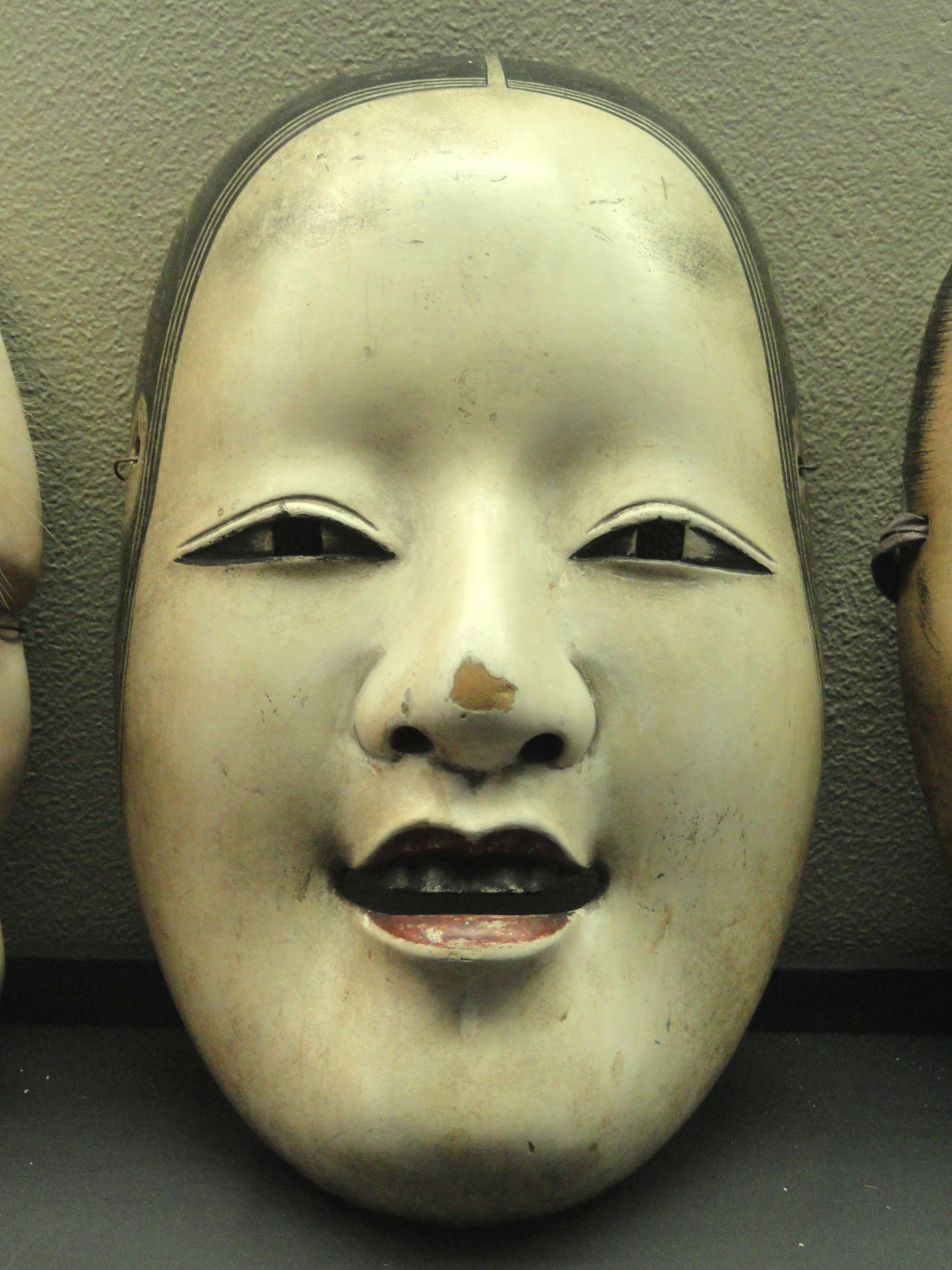Ko-omote character, Noh mask, early 1700s, seal reading 'Sojun' - George Walter Vincent Smith Art Museum - DSC03533.JPG