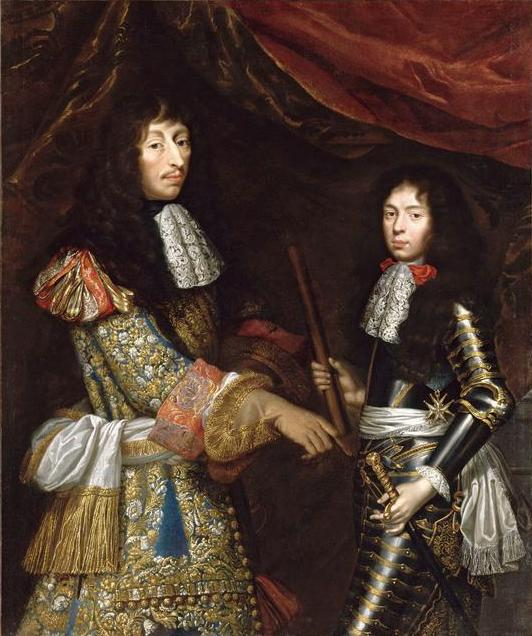 Le Grand Condé with his son Henri Jules, Duke of Enghien (future Prince of Condé) by Claude Lefèbvre.jpg