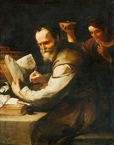 File:Luca Giordano - Xanthippe schuettet Sokrates Wasser in den Kragen.jpg