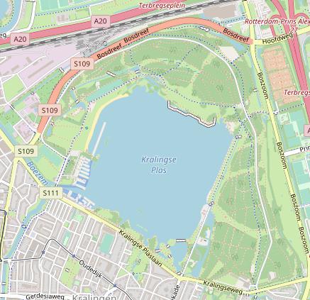 Kaart van Kralingse Bos