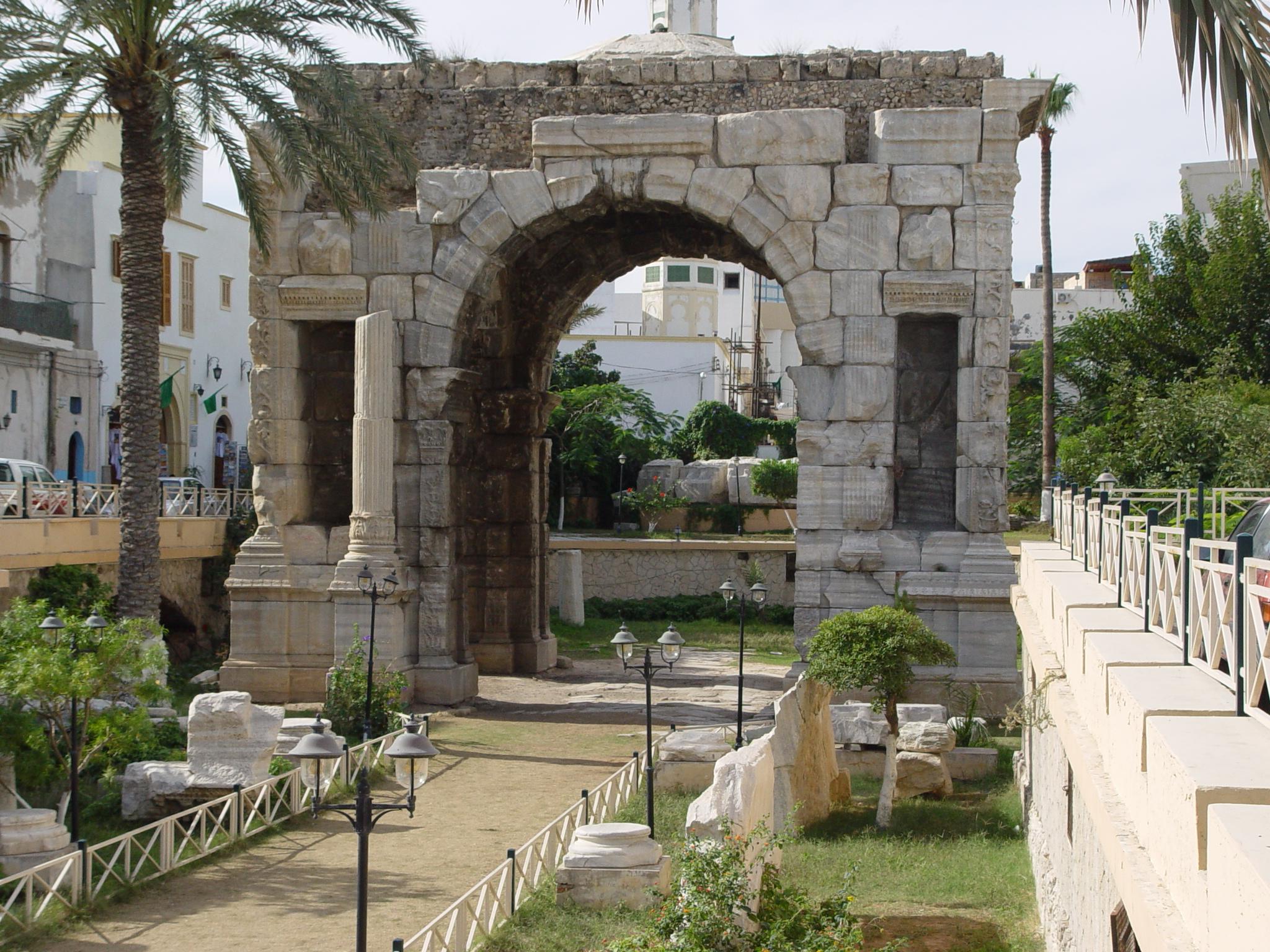 Marcus Aurelius arch in Tripoli, Libya