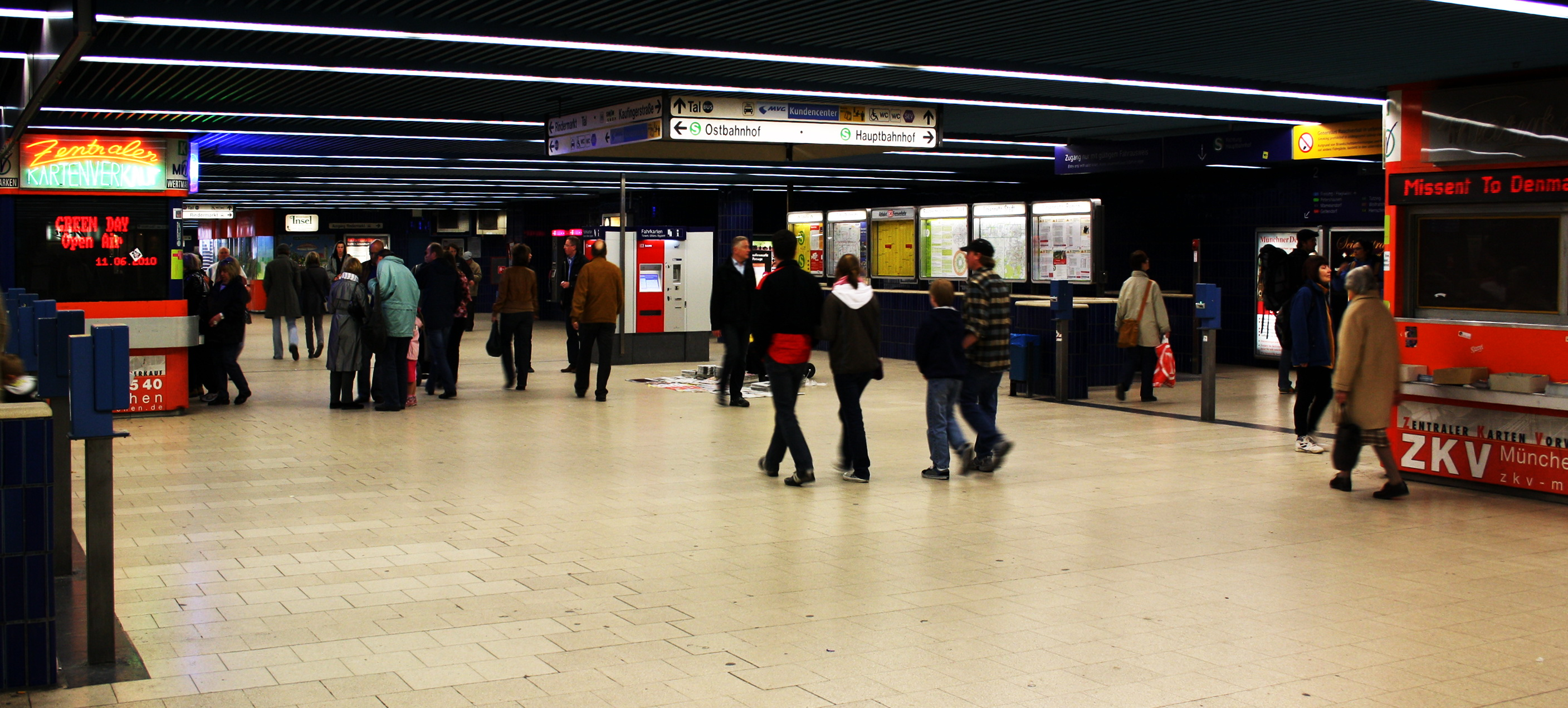 Marienplatz u bahn and s bahn station