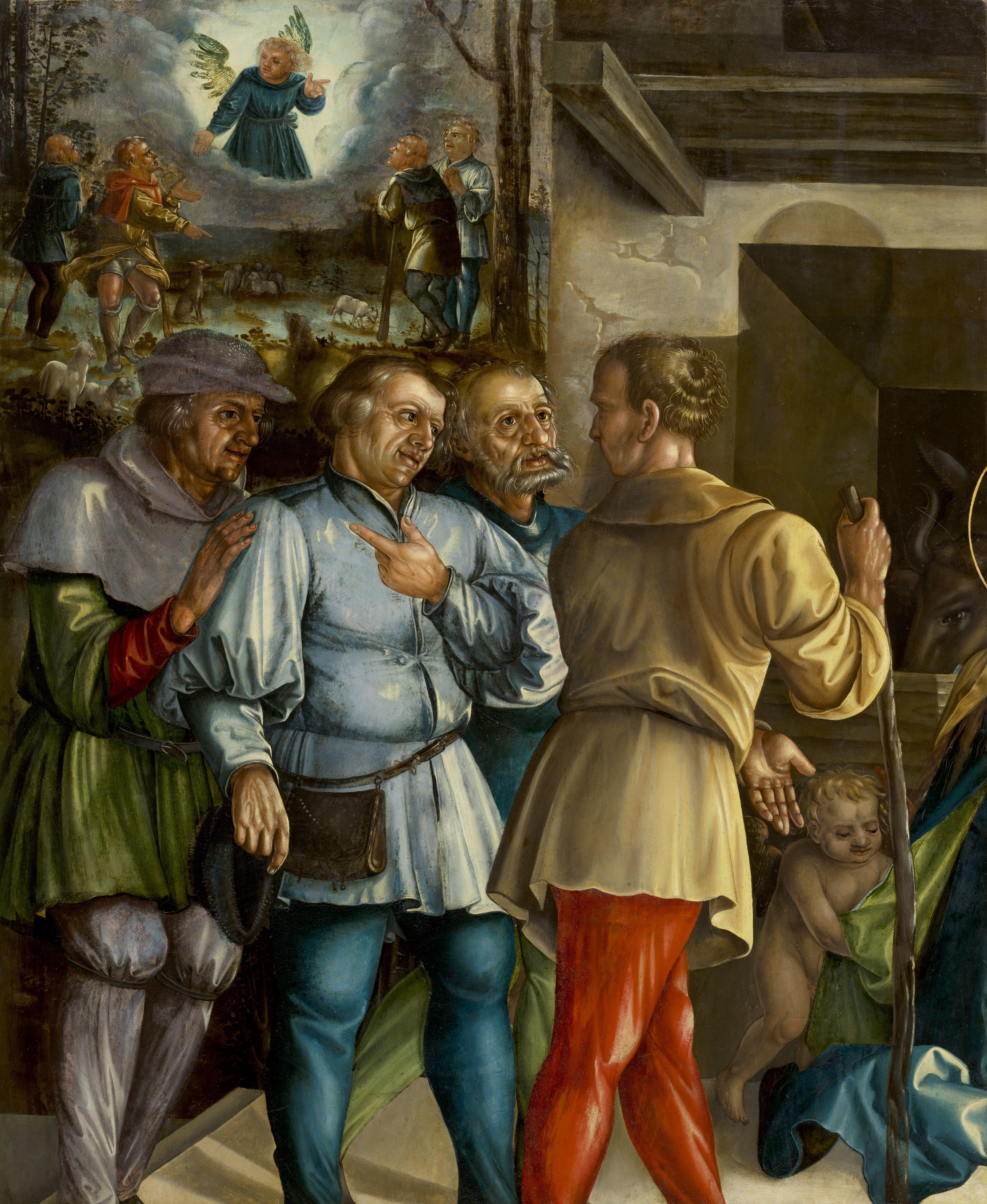 File:Melchior Feselen - Verkündigung und Anbetung der Hirten (1531 ...