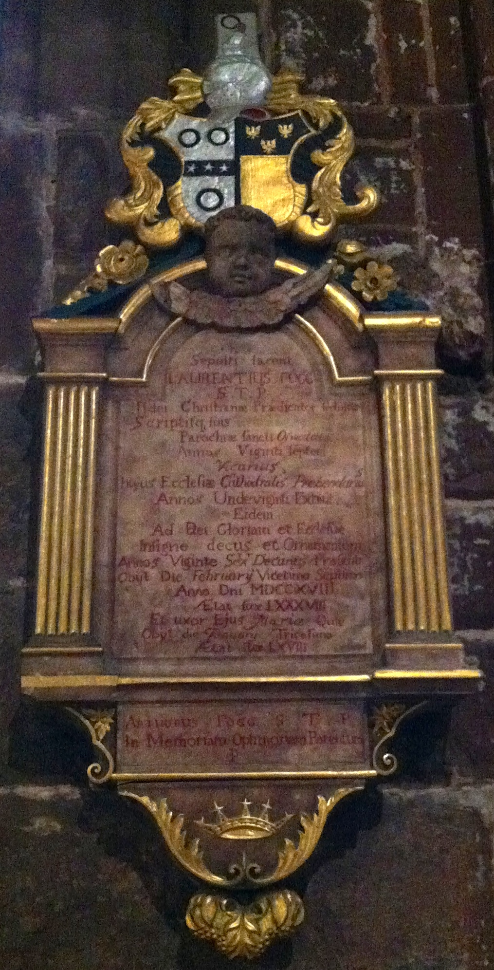 Memorial to Laurence Fogg in [[Chester Cathedral