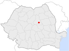 Location of Miercurea-Ciuc