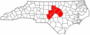 Counties within the North Carolina Region J Council of Governments