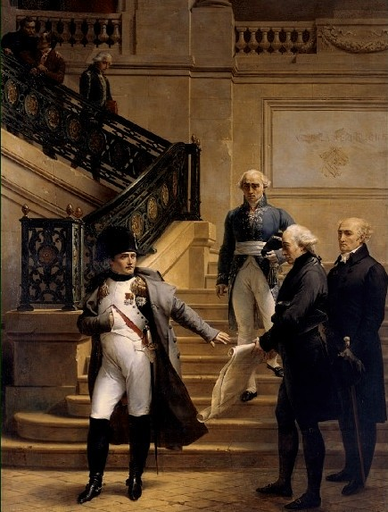 Napoleon visiting the Palais Royal for the opening of the 8th session of the Tribunat in 1807, by Merry-Joseph Blondel Napoleon visiting the Tribunat (Palais Royal) in 1807.jpg
