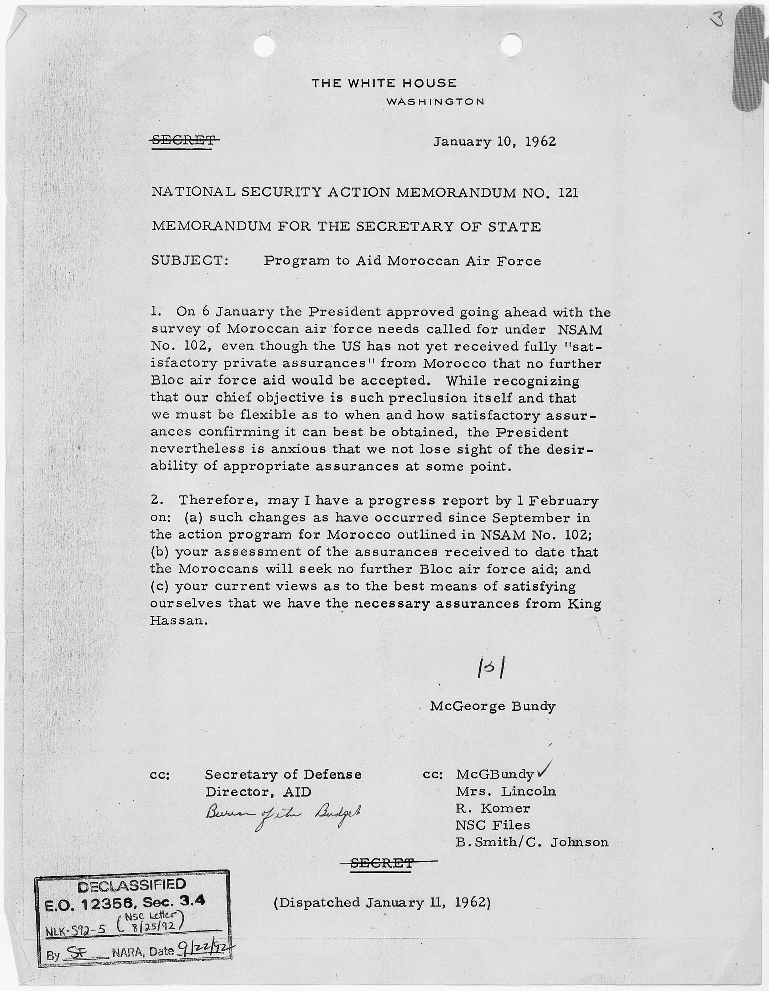 Air Force Memo For Record (MFR)