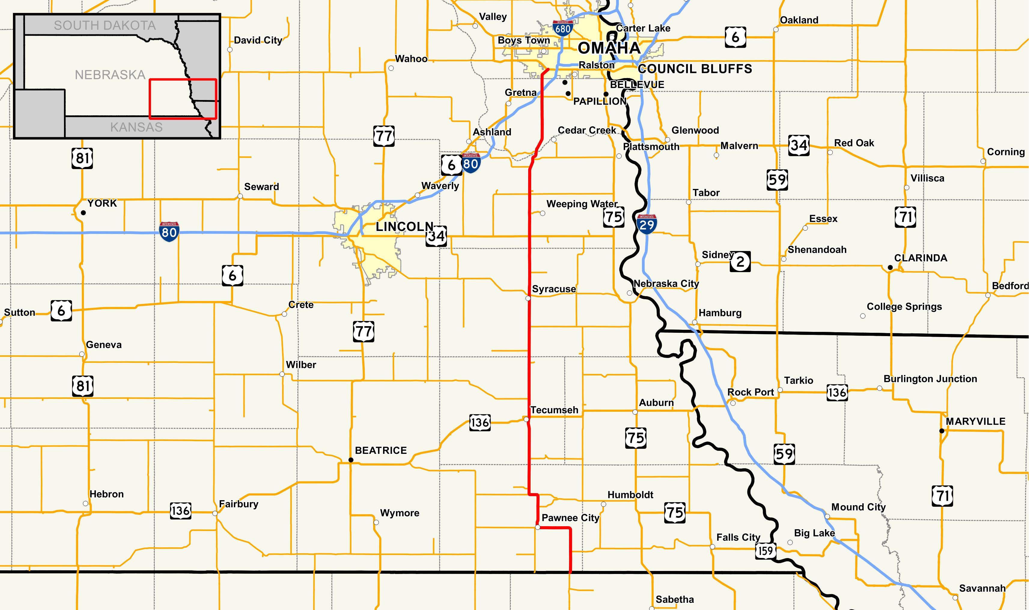 nebraska highway 50 - wikipedia