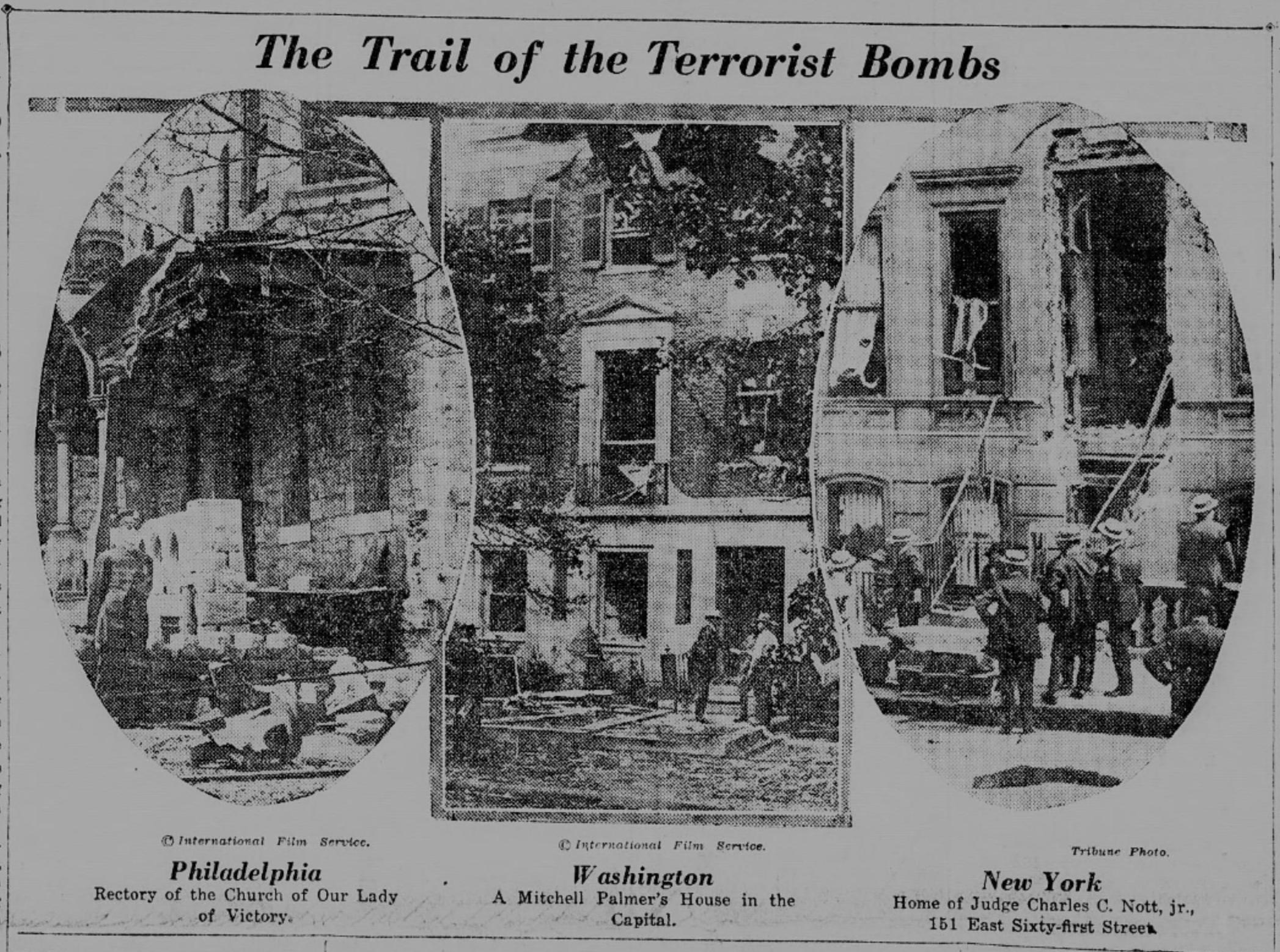 1919 United States anarchist bombings - Wikipedia
