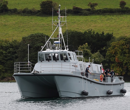 New Survey Ship Hms Magpie H Debuts On The Dart on New Volvo Diesel Engines