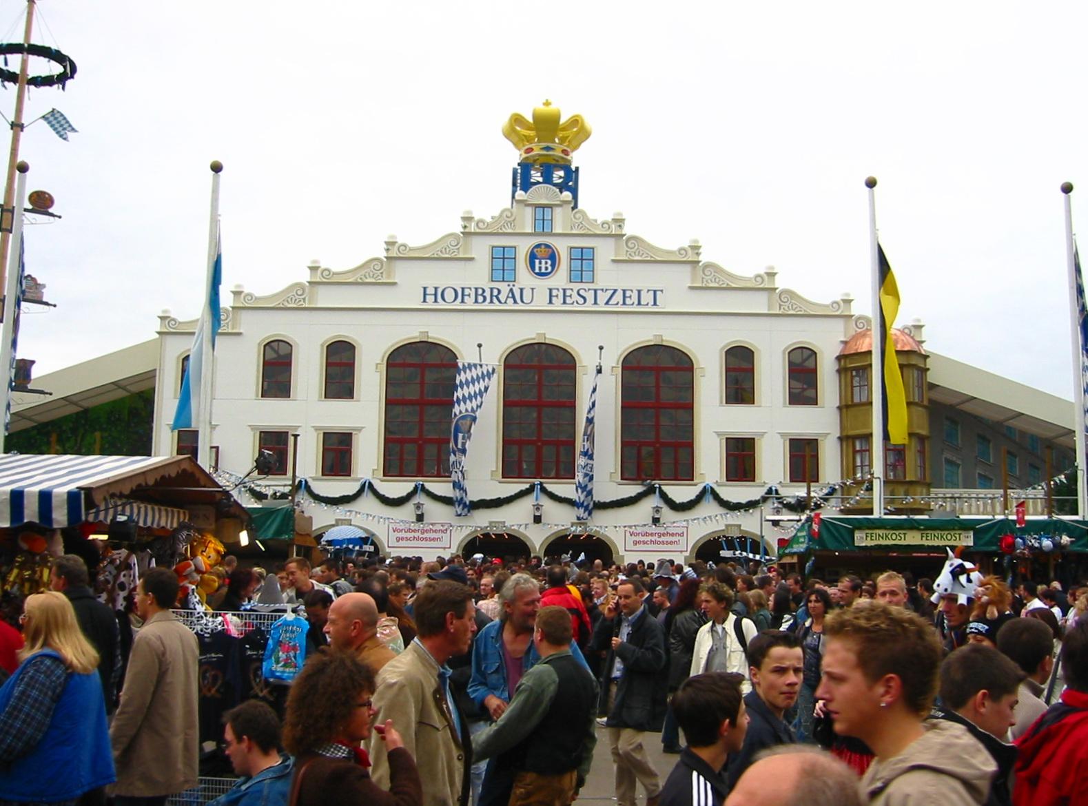 File:Oktoberfest 2005 - Hofbräu-Festzelt - front.jpg