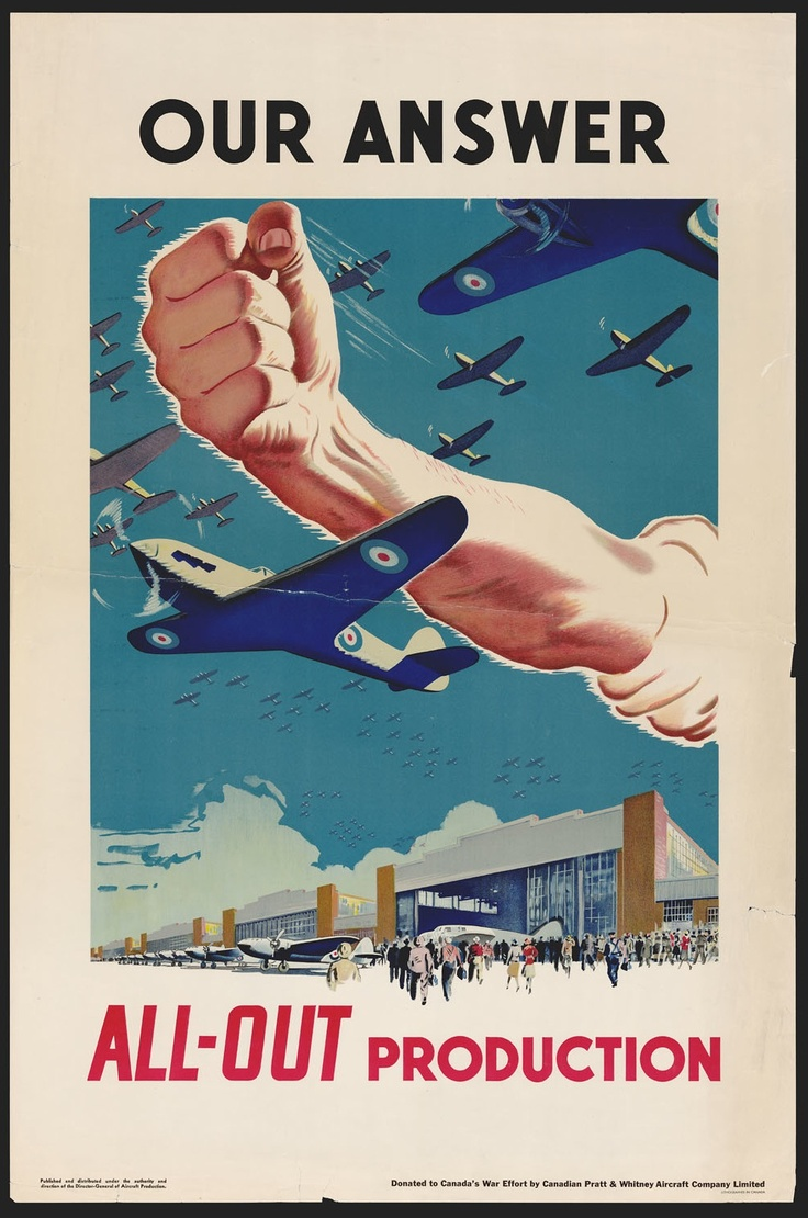 File:Our Answer All-Out Production, Canada, WWII Propaganda