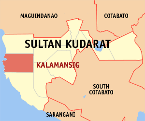 Map of Sultan Kudarat showing the location of Kalamansig