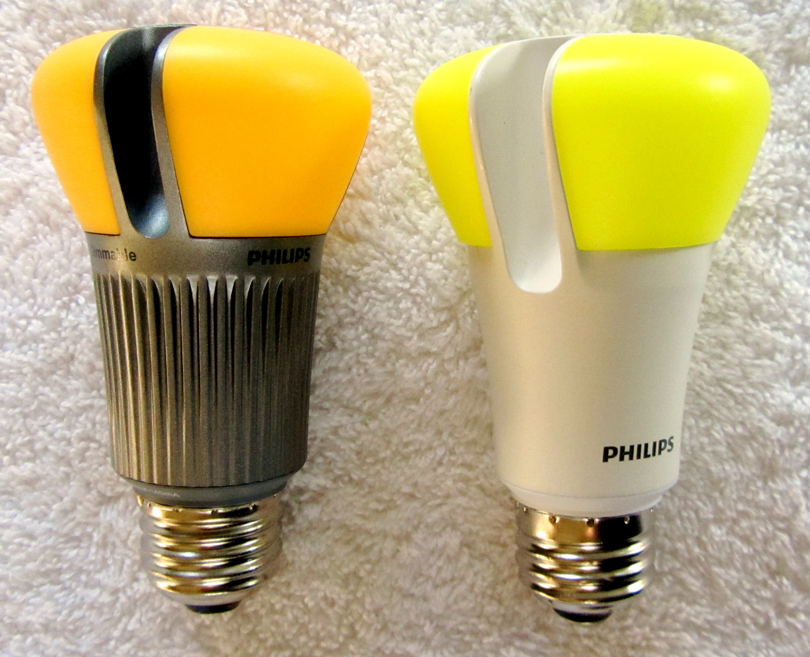 LED lighting squeezed into a familiar incandescent bulb form factor.