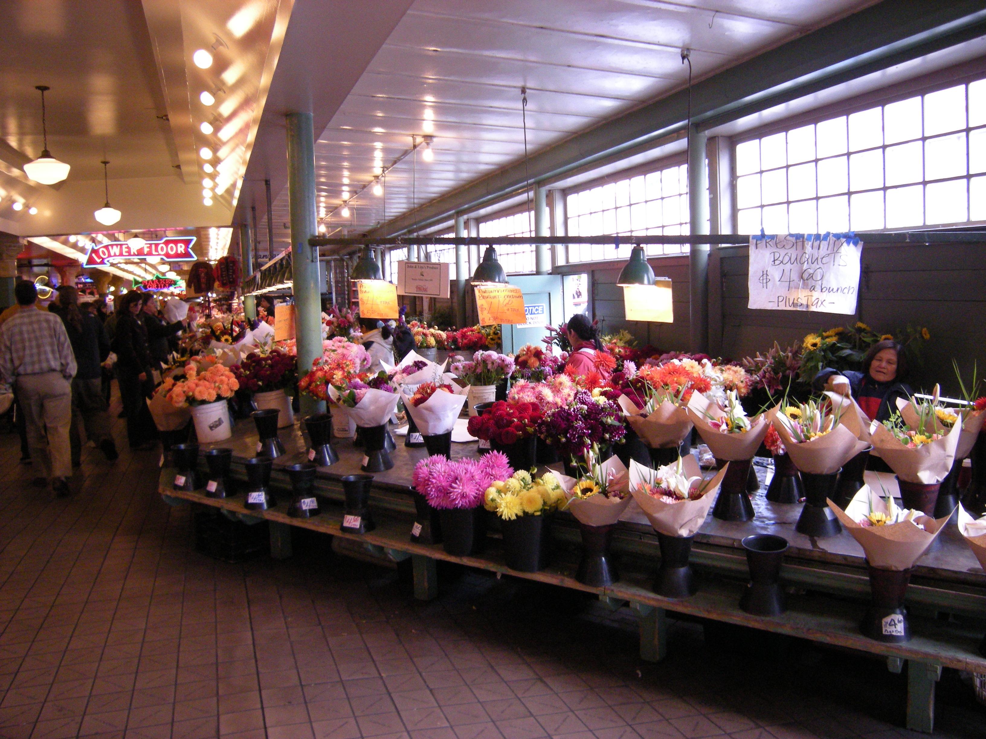 File Pike Place Market Flower Vendors 02 Jpg