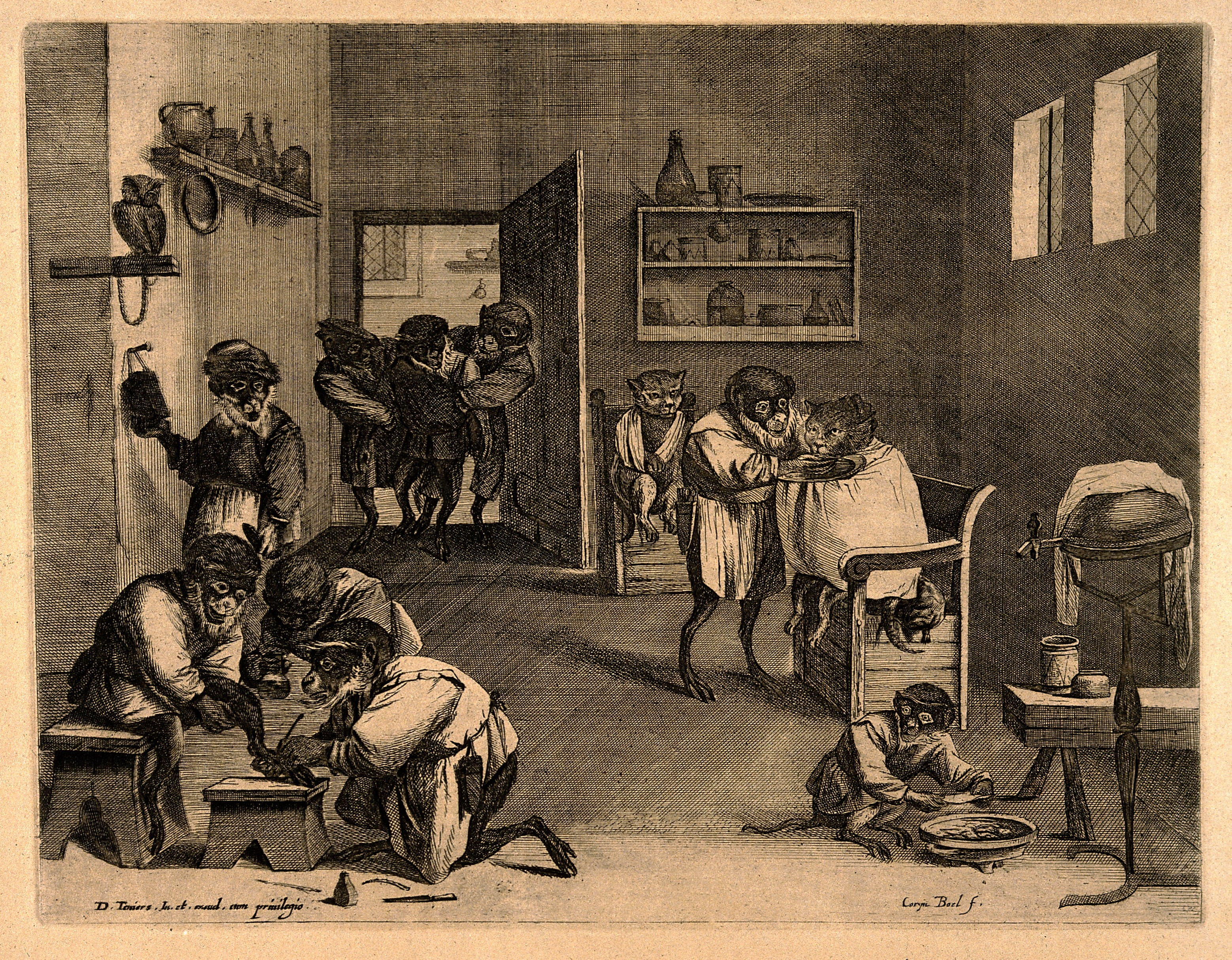File:Practitioners and patients in a busy barber-surgeon's ...