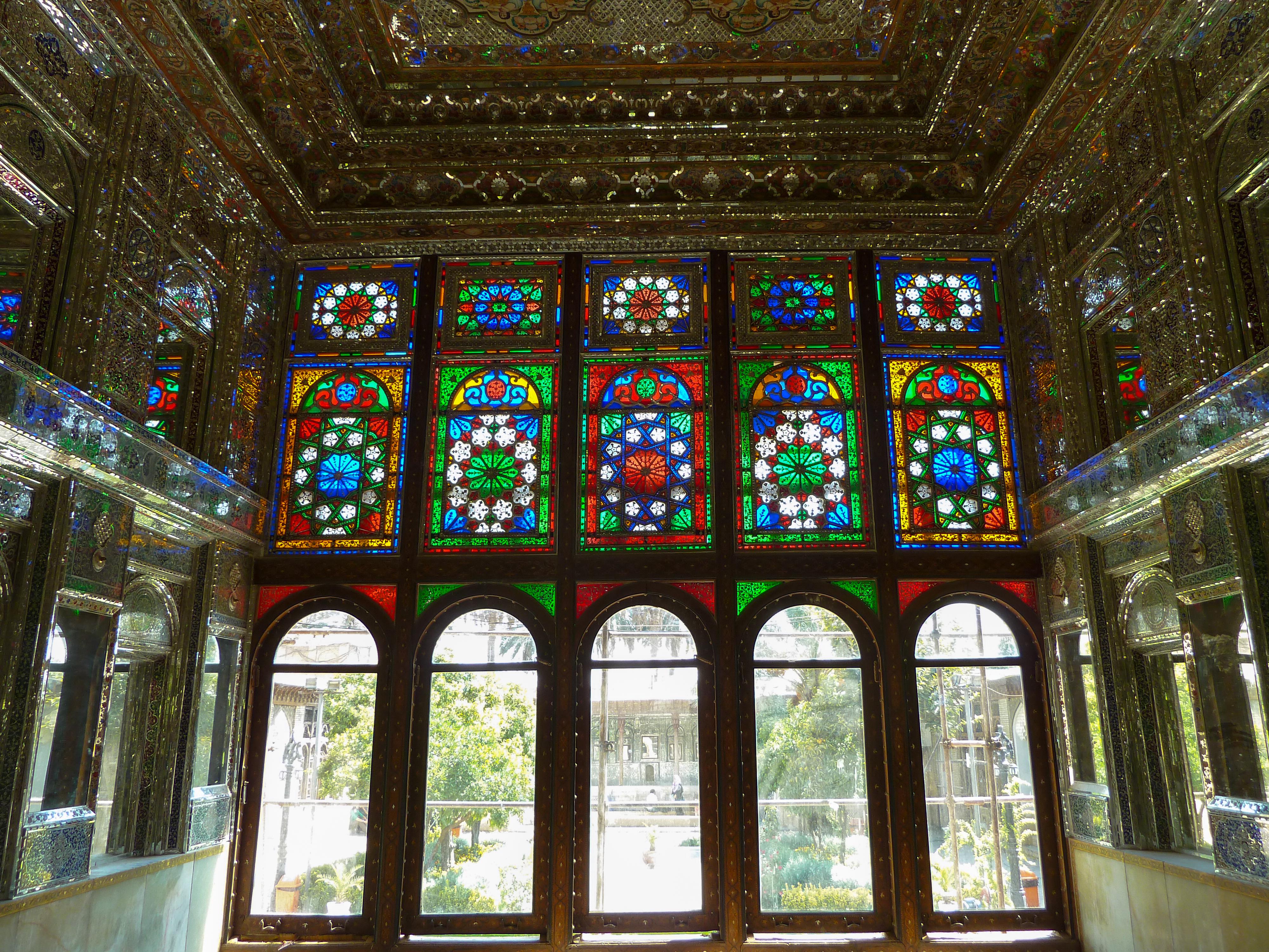 fileqavam house colored glassjpg - Colored Glass