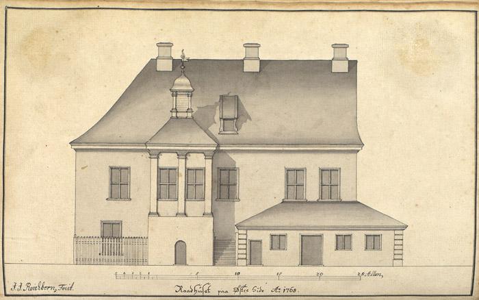 Raadhuset Bergen 1765.jpg