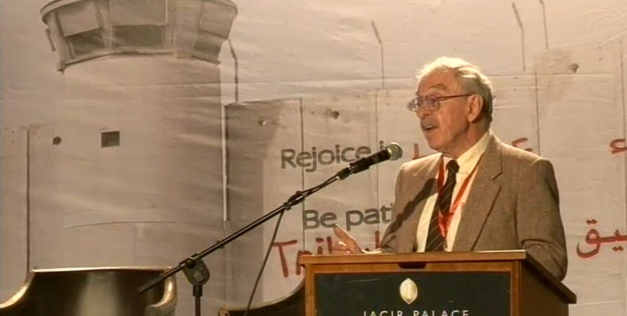 Sider speaking at [[Christ at the Checkpoint]] conference in [[Bethlehem]], the [[Palestinian Territories]], in March 2012