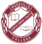 Roseville College crest. Source: www.roseville.nsw.edu.au (Roseville College website)