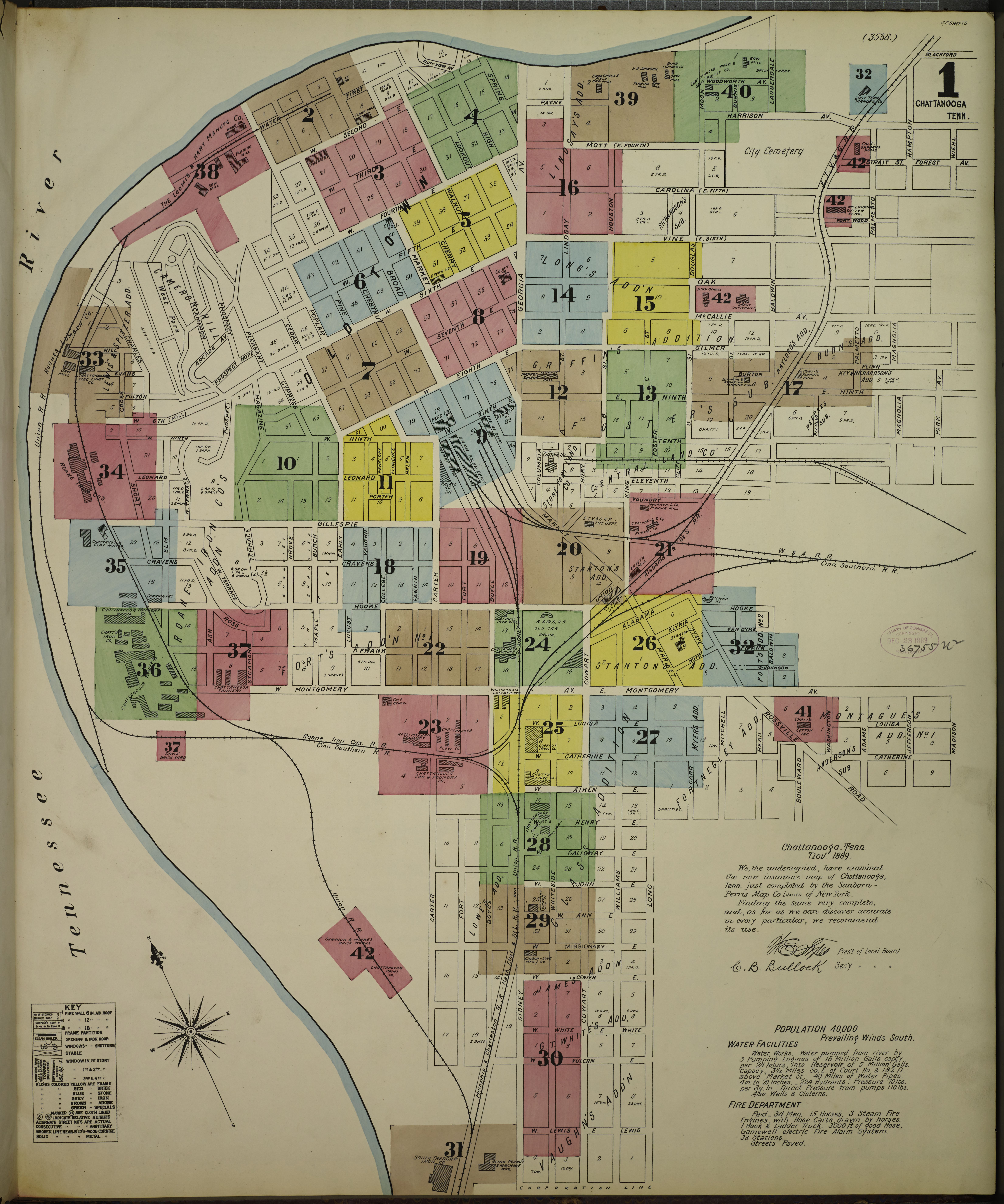 File:Sanborn Fire Insurance Map from Chattanooga, Hamilton ... on counties of atlanta georgia, counties of portland oregon, counties of jacksonville florida,