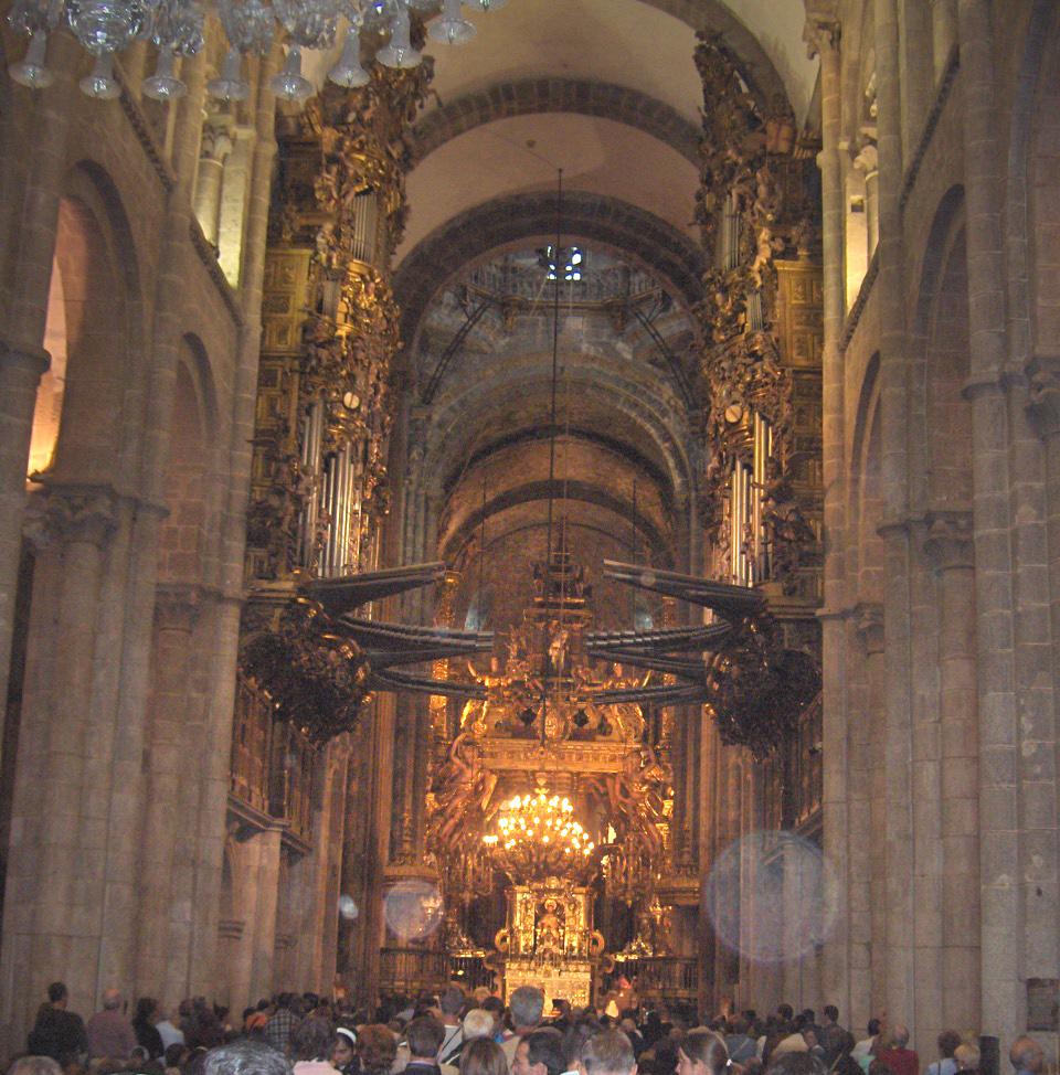 Cathedral of santiago de compostela interior wikimedia - Interior santiago de compostela ...
