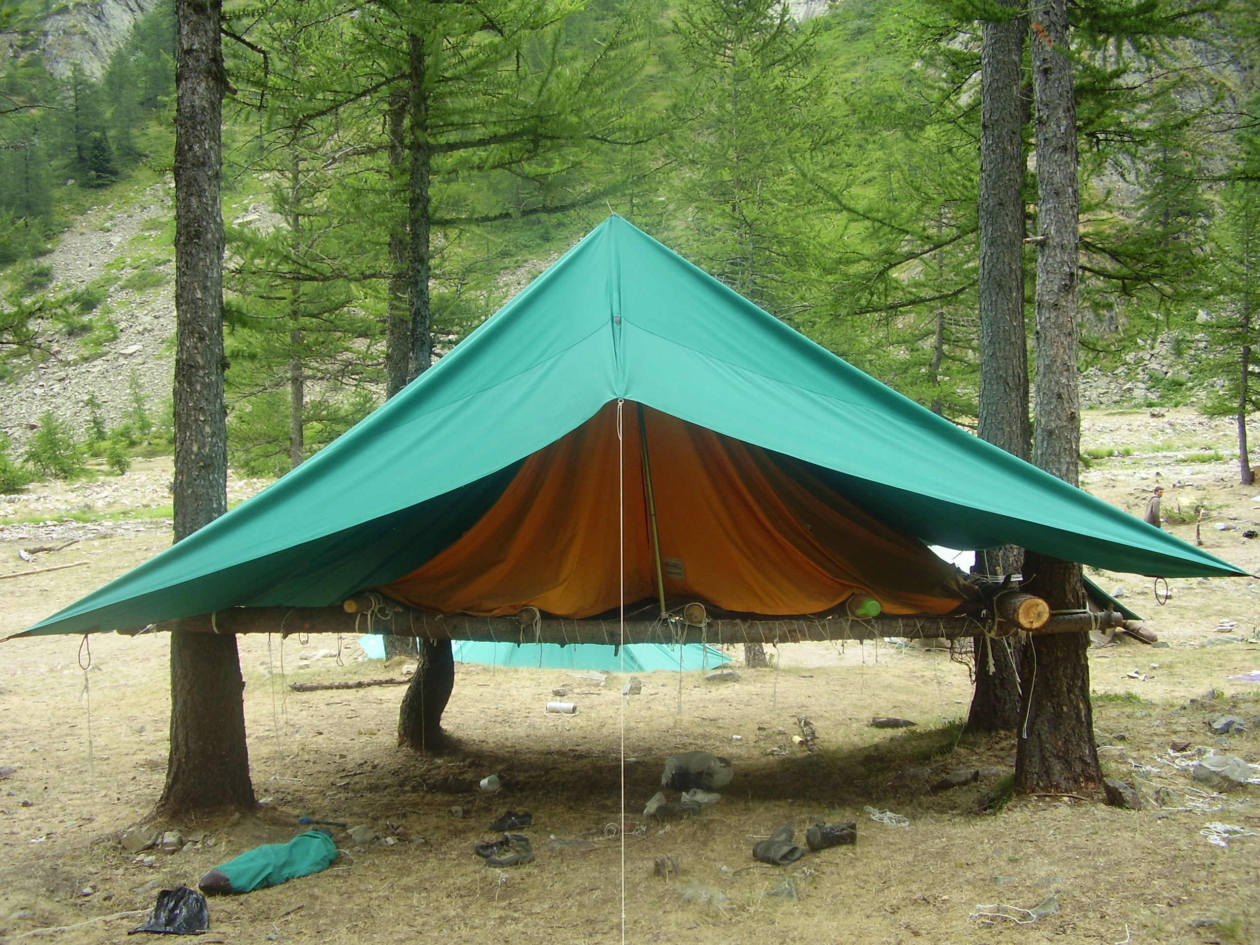 Tent With Shelter Trees : File scout tent tree g